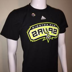 Rare NWT San Antonio Spurs Neon Yellow Logo NBA Black T-Shir