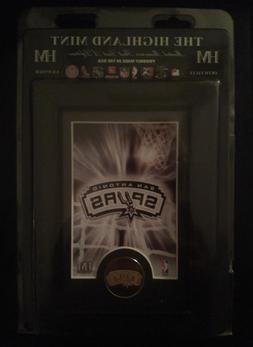 SA Spurs NBA Officially Licensed Framed Art & Bronze Coin NI