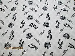 SAN ANTONIO SPURS 100% COTTON  NEW!!  MULTI SPORT DESIGN 1