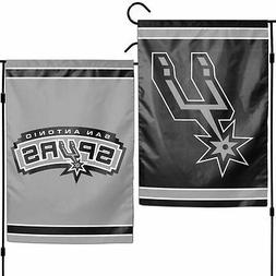 "SAN ANTONIO SPURS 12""X18"" 2 SIDED GARDEN FLAG BRAND NEW WINC"