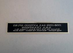 San Antonio Spurs 1998-99 Champs Nameplate For A Basketball