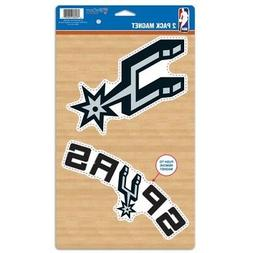 SAN ANTONIO SPURS 2 PACK OF VINYL DIE-CUT MAGNETS HIGH QUALI