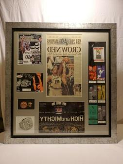 San Antonio Spurs 2003 Champs Framed Collection 37x40 Ticket