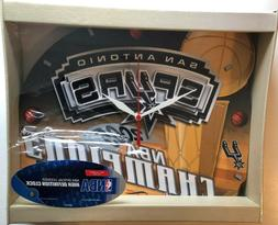 SAN ANTONIO SPURS 2005 NBA BASKETBALL CHAMPIONS WALL CLOCK