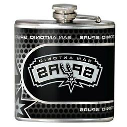 San Antonio Spurs 6oz. Stainless Steel Hip Flask - Silver
