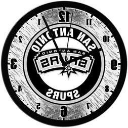 "San Antonio Spurs 8"" EXCLUSIVE Homemade Wall Clock w/ Batter"