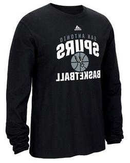 "San Antonio Spurs Adidas NBA ""Rep Big"" Men's Long Sleeve T-S"