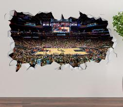 San Antonio Spurs AT&T Center Wall Decal 3D Sticker Smashed