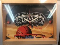SAN ANTONIO SPURS BACKBOARD NBA WALL CLOCK NEW