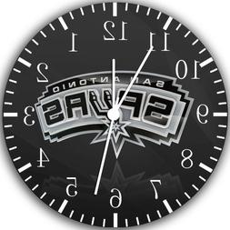 San Antonio Spurs Frameless Borderless Wall Clock Nice For G