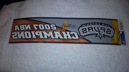 San Antonio Spurs Bumper Sticker 2007 NBA Champions NEW