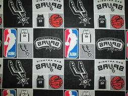 SAN ANTONIO SPURS CHECKED NBA LICENSED QUILTING COTTON FABRI