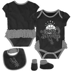 san antonio spurs creeper bib and bootie