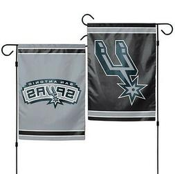 "SAN ANTONIO SPURS DOUBLE SIDED GARDEN FLAG 12""X18"" YARD BANN"