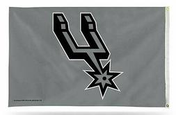 San Antonio Spurs GRAY Rico 3x5 Flag w/Grommets Outdoor Hous