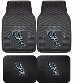 San Antonio Spurs Heavy Duty Floor Mats 2 & 4 pc Sets for Ca