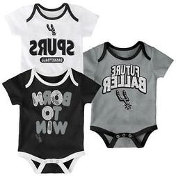San Antonio Spurs Infant Creeper Set Lil Tailgater 3 Pack