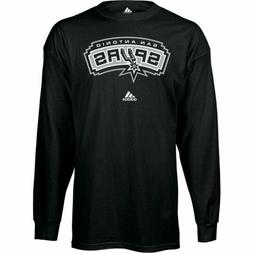San Antonio Spurs Adidas Long Sleeve Black T Shirt   Clearan