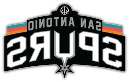 San Antonio Spurs  NBA Basketball Car Bumper Sticker Decal ""