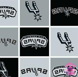 san antonio spurs nba block fleece fabric