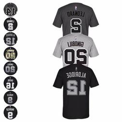 San Antonio Spurs NBA Adidas Name & Number Player Jersey Tea