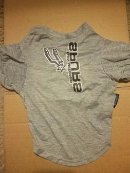 San Antonio Spurs Pet Jersey Gray L Large, NBA Licensed, New