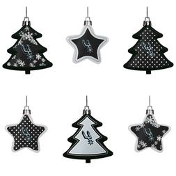 San Antonio Spurs Shatterproof TREES & STARS Christmas Tree