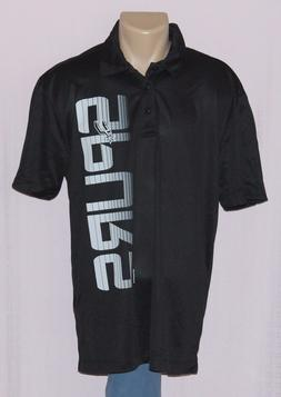 San Antonio Spurs Team Name & Logo Polo Shirt Black XL