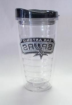 San Antonio Spurs Travel Mug Insulated Tumbler Patch