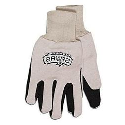 San Antonio Spurs Two Tone Gloves - Adult Size  NCAA Work Gl