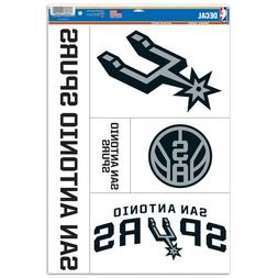 "SAN ANTONIO SPURS ULTRA DECALS 5-PACK 11""X17"" BRAND NEW FREE"