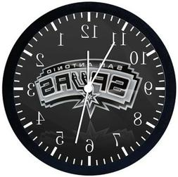 San Antonio Spurs Black Frame Wall Clock Nice For Decor or G
