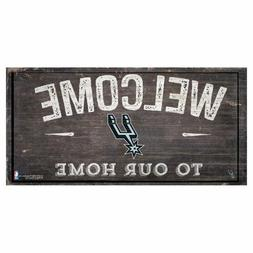 "San Antonio Spurs Welcome to our Home - Wood Sign NEW 12"" x"
