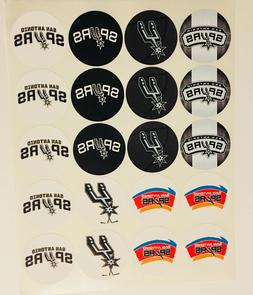 "SET of 20- 2"" SAN ANTONIO SPURS ADHESIVE STICKERS.Basketball"