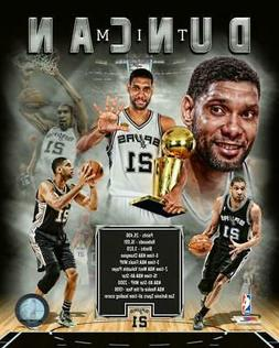 "TIM DUNCAN ""San Antonio Spurs"" LICENSED un-signed poster pri"