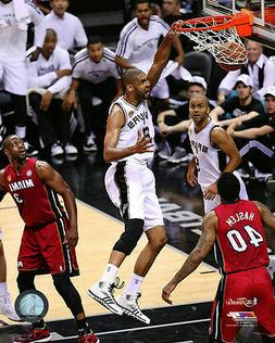 TIM DUNCAN – SAN ANTONIO SPURS NBA LICENSED 8x10 ACTION PH